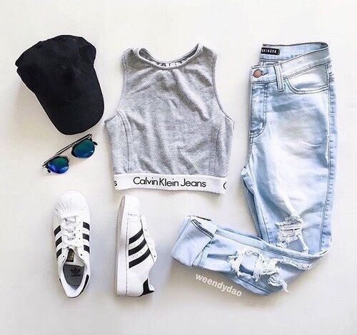 adidas, Calvin Klein, and jeans image