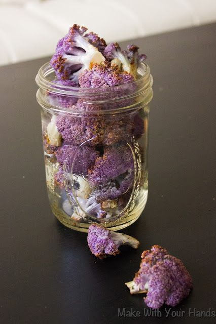 Roasted Purple Cauliflower with Dill {PALEO} perfect weekend snack