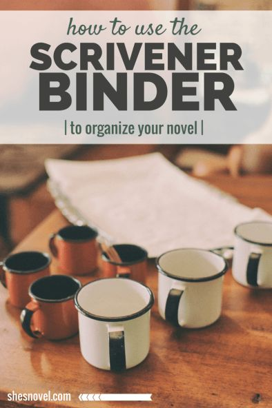 How to Use the Scrivener Binder to Organize Your Novel Project via ShesNovel.com