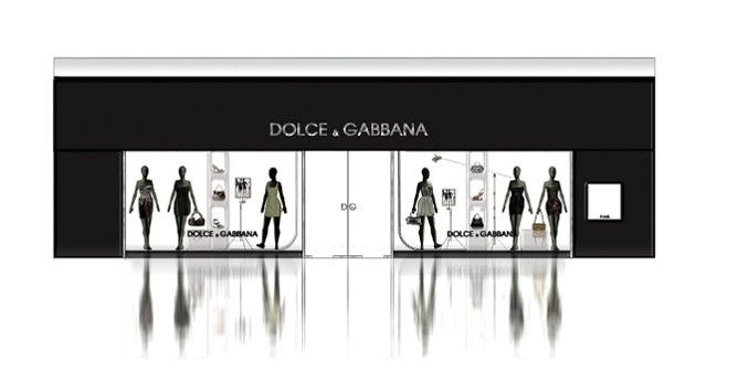 Front Elevation Of Furniture Showroom : Dolce gabbana store front elevation book stores