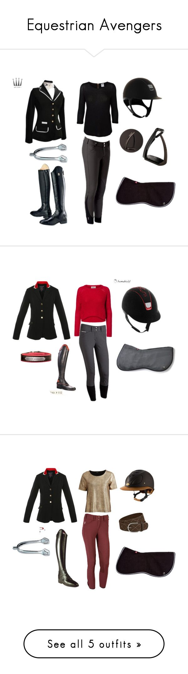 """""""Equestrian Avengers"""" by overthecrossrails ❤ liked on Polyvore featuring Vero Moda, Ariat, VILA, Parlanti, CC, Joules and Spooks"""