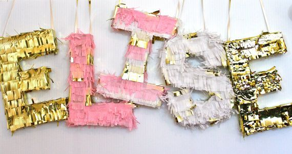 Mini Pinata Letters by KatieKFranklin