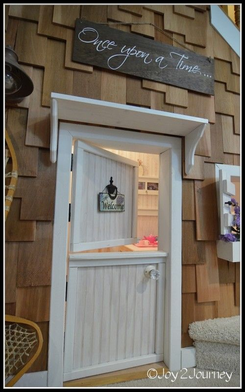 Kid's under the stair playhouse! Saw a less cool version of this in a house we looked at, but Jake is totally doing this in the new house!!!