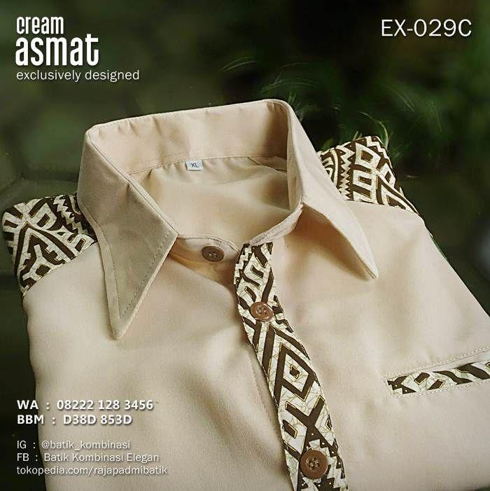 Batik Seragam, Warna Krem, Baju Batik Polos, Semi Batik, Kemeja Batik Kombinasi, https://instagram.com/batik_kombinasi, WA : 08222 128 3456