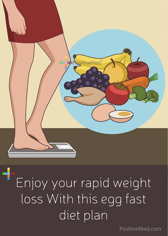 Enjoy Your Rapid Weight Loss With This Egg Fast Diet Plan - PositiveMed
