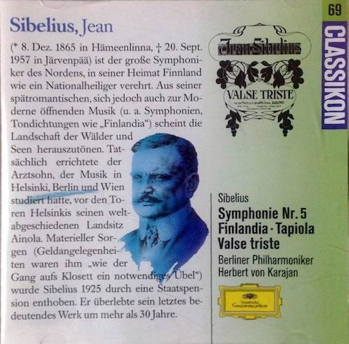 Jean Sibelius: Symphonie No. 5 - Finlandia - Tapiola - Valse Triste