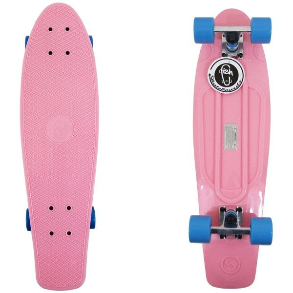 """Amazon.com : 27"""" Shark Pastel Pink Long Skate board Plastic Cruiser... ($60) ❤ liked on Polyvore featuring penny boards"""