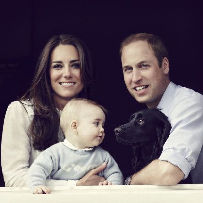 Baby George is too cute! New official photo of Kate, William and George released