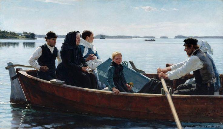 Albert Edelfelt (1854-1905) Lapsen ruumissaatto / A Child's funeral 1879 - Finland