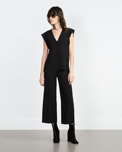 Image 1 of TOP WITH SLIT from Zara