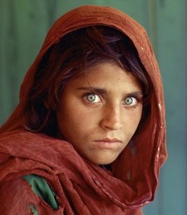 Pashto girl, an ethnic group from Afghanistan