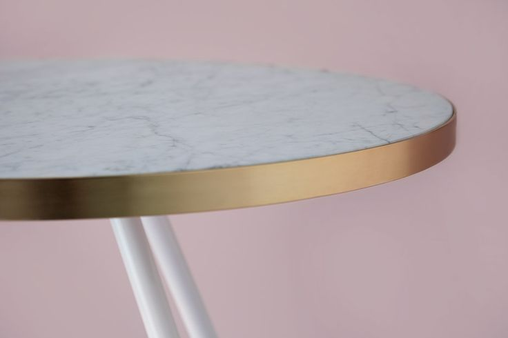 Bethan Gray S Marble Band Tables Are Edged In Brushed