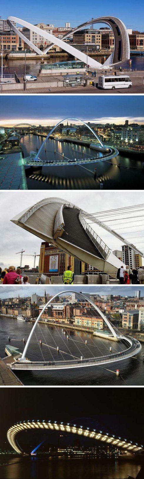 Gateshead Millennium Bridge. WilksonEyre Architects.