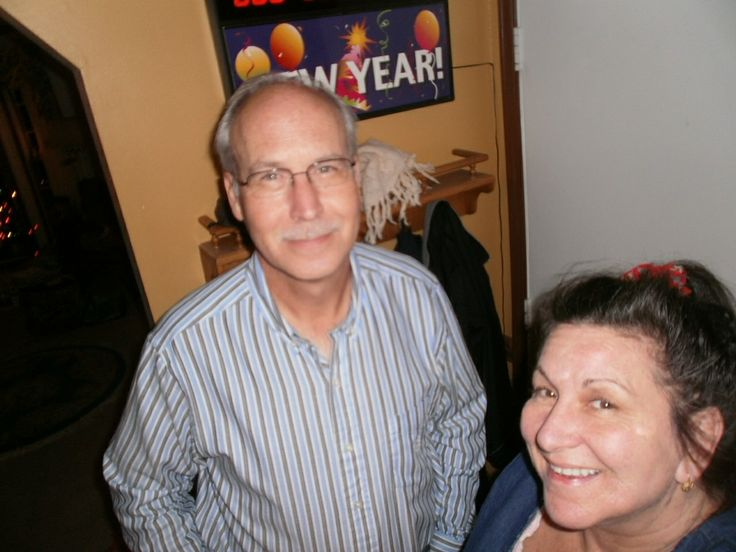 took picture of ourselves 2014  Marie & Gary