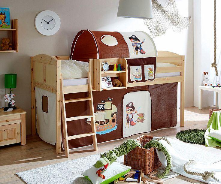 Die besten 25+ Kinderhochbett Ideen auf Pinterest Halbhohes - schlafzimmer mit spielbereich eltern kinder interieur idee ruetemple