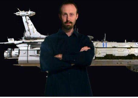 Maluco resolve construir nave de Star Wars gigante feita de lego