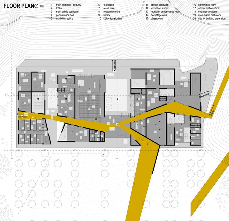 100 ideas to try about drawing museum of art ground for Youth center architecture