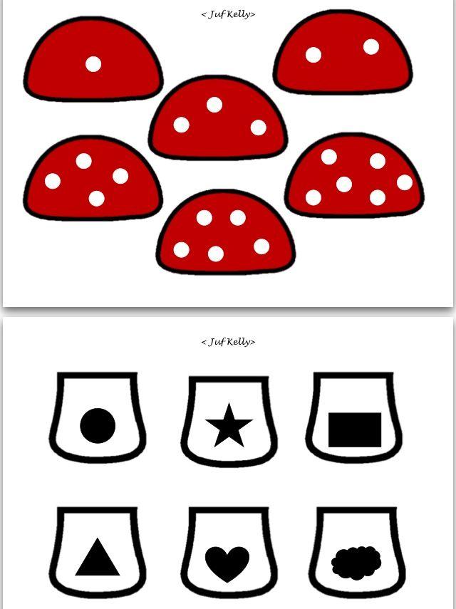 Sorteerspel paddenstoel