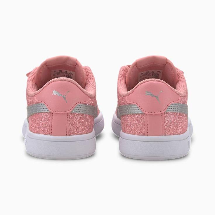 Chaussure Basket PUMA Smash v2 Glitz Glam pour petite fille