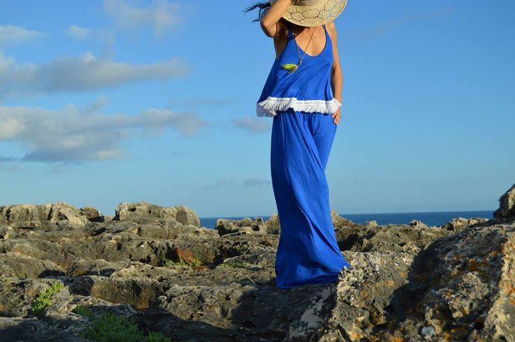 Maxi dress Azulão