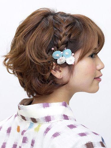 着物 髪型 着物 髪型 ボブ 自分で : Hairstyles for Short Hair and Kimono