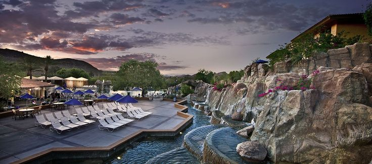Pointe Hilton Tapatio Cliffs Resort, Phoenix, AZ Hotel - The Falls Water Village View  | AZ 85020