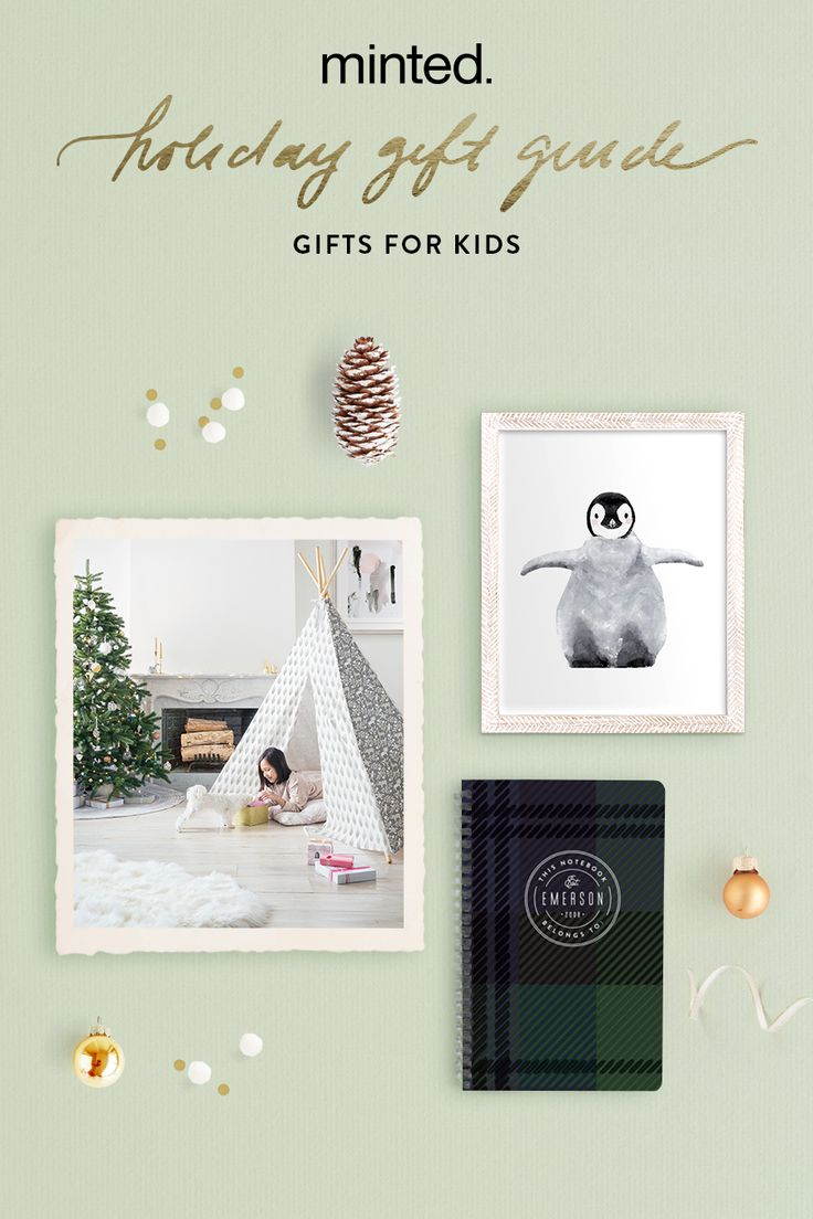 Minted Holiday Gift Guide for Kids Gifts