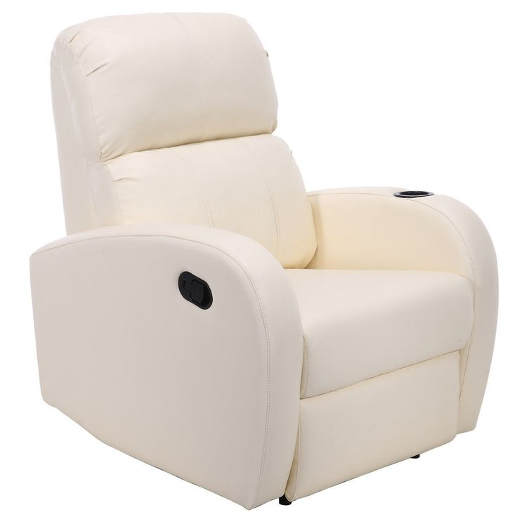 PU Leather Manual Recliner Chair Single Sofa