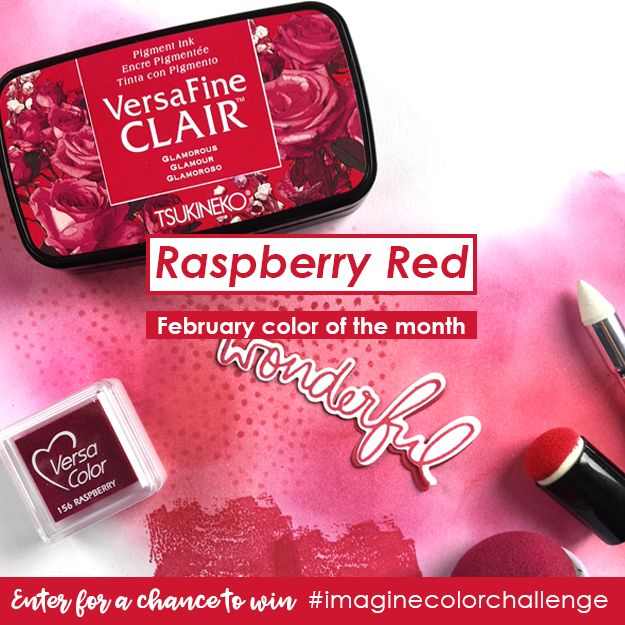 The Color of the Month for February is Raspberry Red! This is a beautiful color that can be found in fashion, crafts, and home decor. We love raspberry red because it has an electric look that occu…