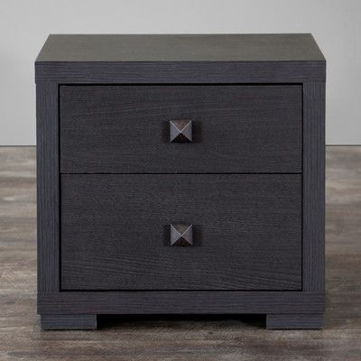 $71 Wholesale Interiors Baxton Studio 2 Drawer Nightstand