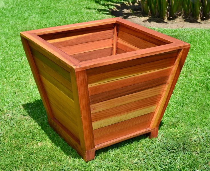 how to build square wooden planters