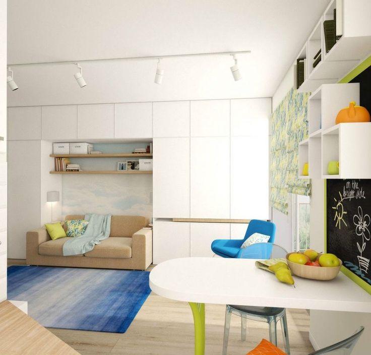 Színes kis lakás ügyes megoldásokkal - praktikus lakberendezési ötletek