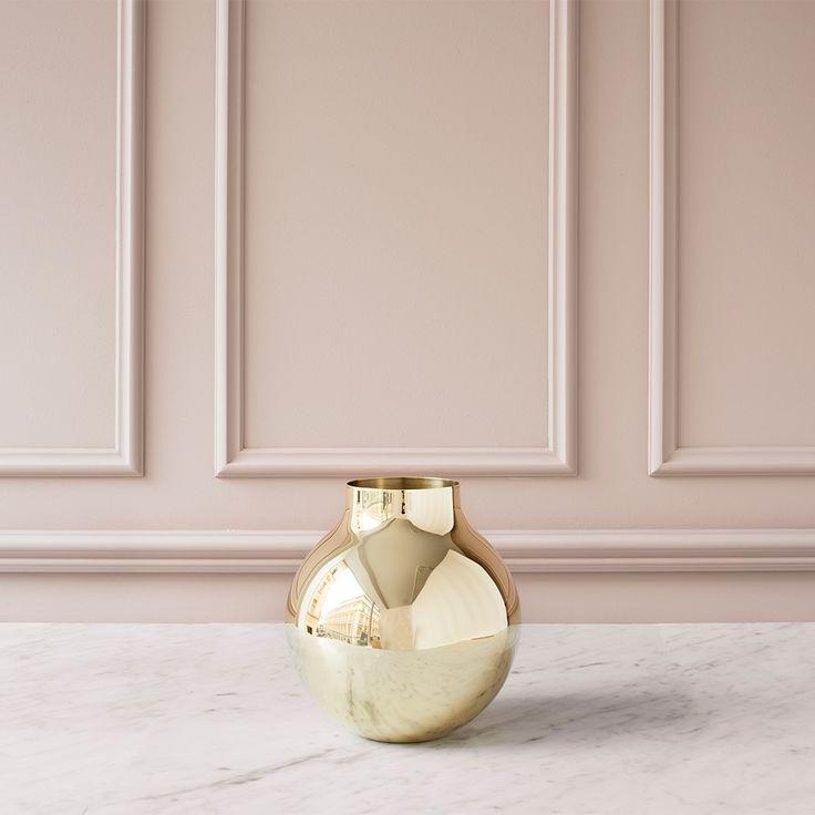 Boule Vas H21,5cm Ø20cm, Mässing - Olivia Herms - Skultuna - RoyalDesign.se