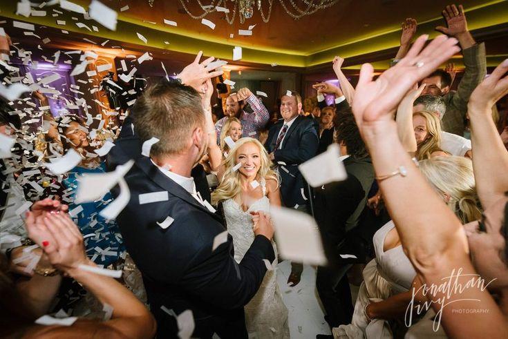 Flutterfetti on Dance Floor Hotel Zaza Wedding in Houston