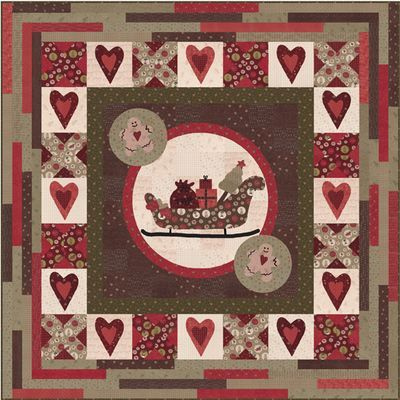 1000 images about free santa sleigh pattern on pinterest templates free pattern and cookie - Patchwork noel modele gratuit ...