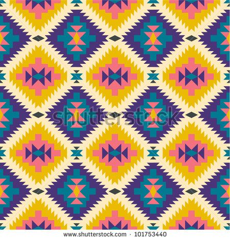 Seamless texture in navajo style #2