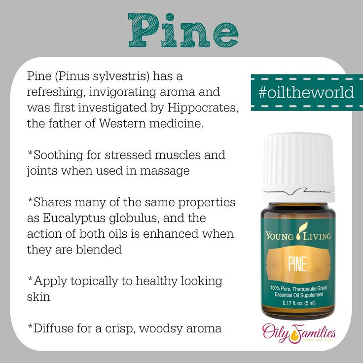Pine essential oil has a refreshing, invigorating aroma and is soothing for stressed muscles and joints when used in massage.