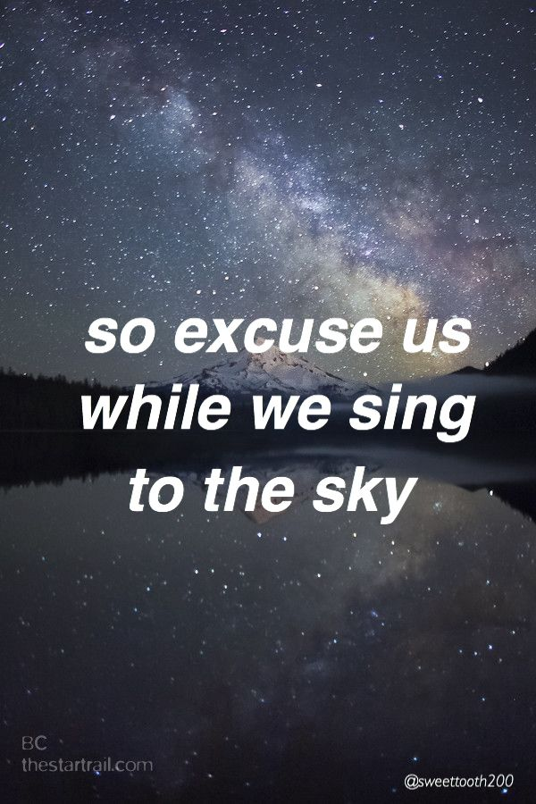 While you're doing fine, there's some people and I Who have a really tough time getting through this life So excuse us while we sing to the sky//screen//twenty one pilots