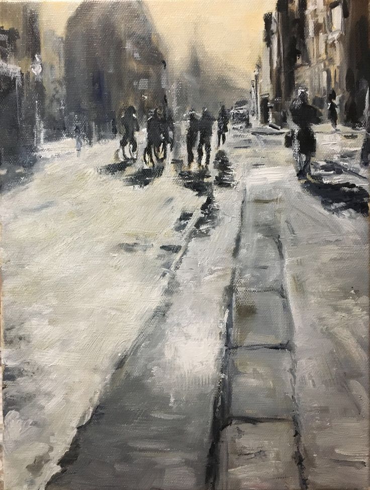 A personal favourite from my Etsy shop https://www.etsy.com/listing/520372401/oil-painting-on-canvas-city-landscape