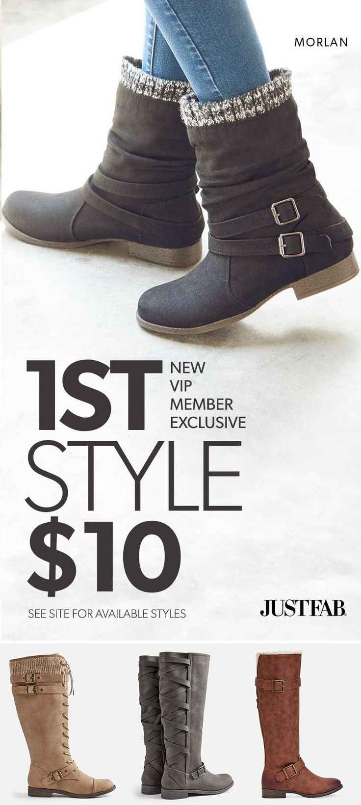 Hey Girl! Check Out Our Fall Favorites - Get Your First Pair of Boots for Only $10! Take the 60 Second Style Quiz to get this exclusive offer!