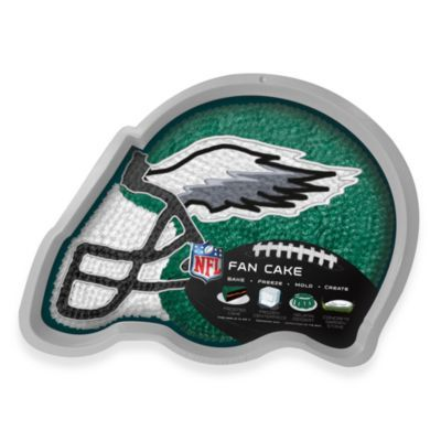Fan Cake NFL Silicone Cake Pan in Philadelphia Eagles - BedBathandBeyond.com So I don't have to make him a football cake year after year! :D