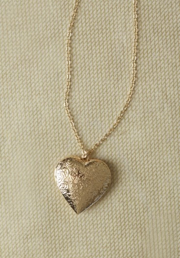 Heart Of Gold Locket Necklace