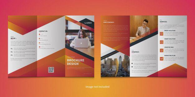 Modern Trifold Brochure Template In 2020 Brochure Trifold Brochure Brochure Template