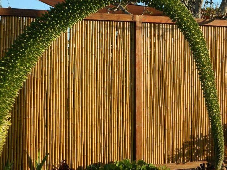 clôture de jardin en bois : idée pour jardin zen