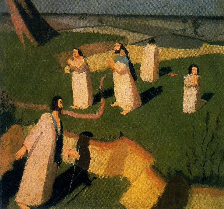 John Donne Arriving In Heaven, 1911-Stanley Spencer - by style - Neo-Romanticism