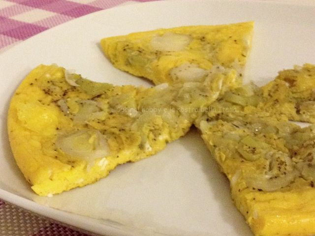 #Frittata con il #porro #uova #verdura #secondipiatti #ricetta