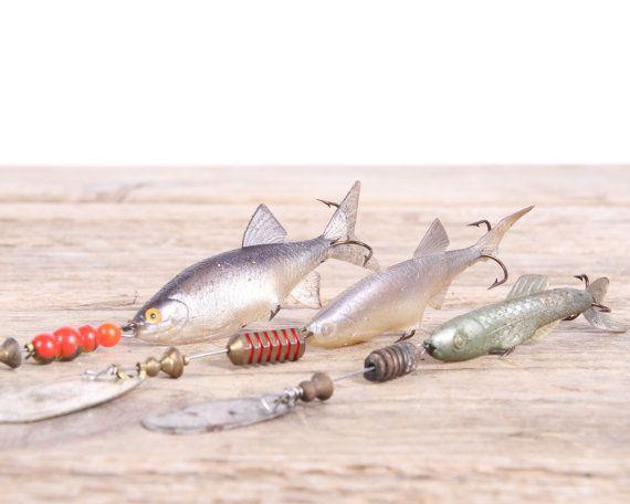 Old Fishing Lures / Mepps Fishing Lures / Fishing Decor /