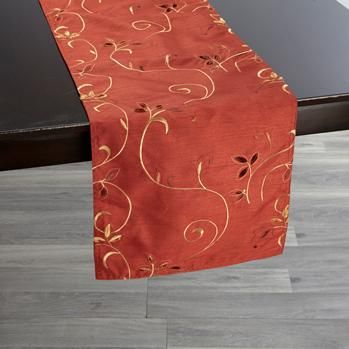Patterned table runner to add colour @DinnerbyDesign