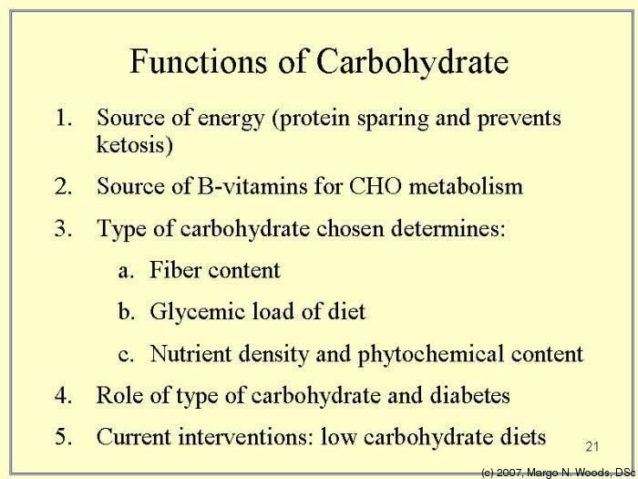 some functions of a carbohydrate include energy storage and, Human body