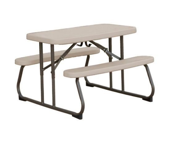Lifetime Kids Folding Picnic Table Putty X4 To Use When Are Cared